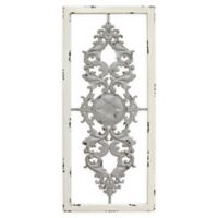 Stratton Home Décor Grey Scroll 16-Inch x 36-Inch Metal Panel Wall Art