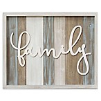 "Stratton Home Decor Medium Rustic ""Family"" Wood Grain Wall Decor"