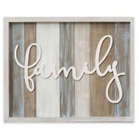 "Stratton Home Decor Medium Rustic ""Family"" Wood Grain Wall Decor"