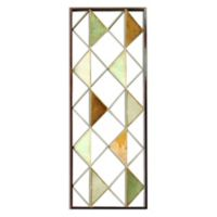 Stratton Home Décor Multi Triangle 34-Inch x 12-Inch Metal Wall Art