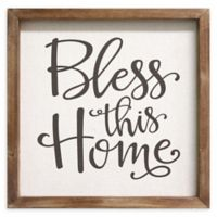 """Stratton Home Décor """"Bless this Home"""" 12-Inch Square Framed Wall Art"""