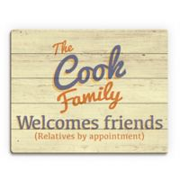 Astra Art Welcome Friends 11-Inch x 14-Inch Wood Wall Art
