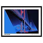 Artography Limited Blue Golden Gate Bridge 19-Inch x 25-Inch Framed Wall Art