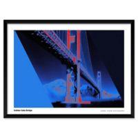 Artography Limited Blue Golden Gate Bridge 19-Inch x 25-Inch Framed Wall Art
