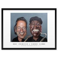 """Artography Limited B. Springsteen and C. Clemons 19"""" x 25"""" Wall Art"""