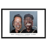 """Artography Limited B. Springsteen and C. Clemons 25"""" x 37"""" Wall Art"""