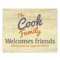 "Astra Art ""Welcome Friends"" 11-Inch x 14-Inch Metal Wall Art"