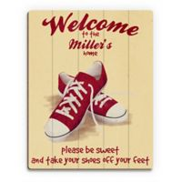 Astra Art Shoes Off 11-Inch x 14-Inch Wall Art in Yellow/Red