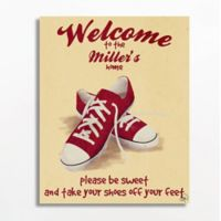 Astra Art Shoes Off 16-Inch x 20-Inch Wall Art in Yellow/Red
