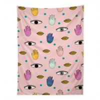Deny Designs 80-Inch x 60-Inch Hello Sayang Eyes Hands Lips Dots Wall Tapestry