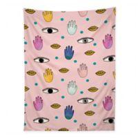 Deny Designs 80-Inch x 60-Inch Hello Sayang Eyes Hands Lips Dots Wall Tapestry