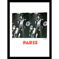 """David Bowie in Paris"" by Fairchild Paris 24-Inch x 18-Inch Framed Wall Art"