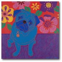 Courtside Market Perspicacious Pug 16-Inch Square Canvas Wall Art