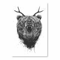 Courtside Market Angry Bear with Antlers Wall Art