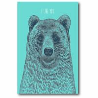Courtside Market 12-Inch x 18-Inch I Like You Bear Canvas Wall Art
