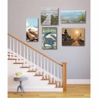 Courtside Market Coastal Dream Canvas Wall Art (Set of 5)