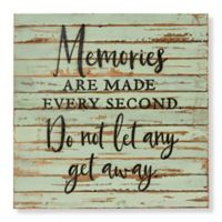 "Sweet Bird & Co. ""Memories Are Made"" 24-Inch Square Wood Wall Art"