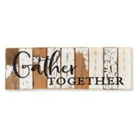 "Sweet Bird & Co. ""Gather Together"" 18-Inch x 6-Inch Wood Wall Art"