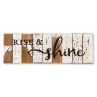 "Sweet Bird & Co. ""Rise and Shine"" 18-Inch x 6-Inch Wood Wall Art"