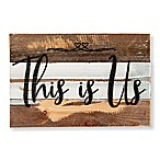 "Sweet Bird & Co. ""This Is Us"" 12-Inch x 8-Inch Wood Wall Art"
