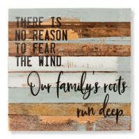 "Sweet Bird & Co. ""Family Roots"" 24-Inch Square Wood Wall Art"