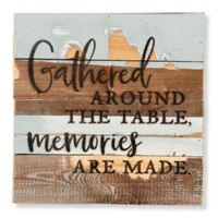 "Sweet Bird & Co. ""Gathered Around"" 12-Inch Square Wood Wall Art"