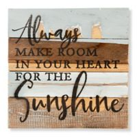 "Sweet Bird & Co. ""Room for Sunshine"" 12-Inch Square Wood Wall Art"