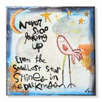 Sweet Bird & Co. Never Stop Looking Up 8-Inch Square Metal Wall Art
