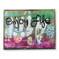 Sweet Bird & Co. Enjoy Life 8-Inch x 6-Inch Metal Wall Art