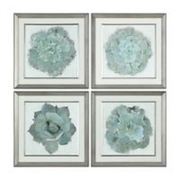 Uttermost Natural Beauties Botanical 5-Inch Square Framed Wall Art Prints (Set of 4)