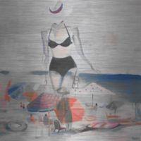 """Parvez Taj """"Black Bikini"""" 18-Inch x 18-Inch Aluminum Print Wall Art"""