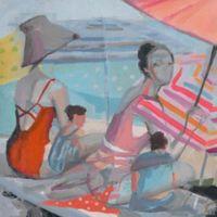 "Parvez Taj ""In the Shade"" 40-Inch x 40-Inch Canvas Print Wall Art"