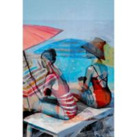 Marmont Hill Beach Ladies 12-Inch x 18-Inch Canvas Wall Art