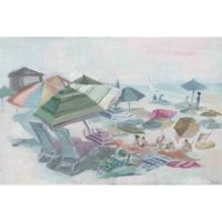 "Parvez Taj ""Crowded Beach"" 18-Inch x 12-Inch Canvas Print Wall Art"