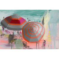"""Parvez Taj """"Beachy Scene"""" 30-Inch x 20-Inch Canvas Print Wall Art"""