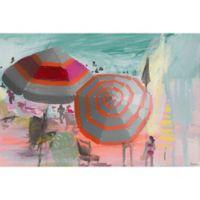 """Parvez Taj """"Beachy Scene"""" 60-Inch x 40-Inch Canvas Print Wall Art"""
