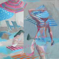 "Parvez Taj ""Beach Life"" 24-Inch x 24-Inch Canvas Print Wall Art"