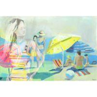 "Parvez Taj ""Polka Dot Umbrella"" 18-Inch x 12-Inch Canvas Print Wall Art"
