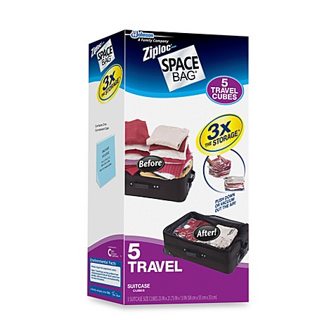 Ziploc® Space Bag® 5 Piece To Go Travel Cube Suitcase Space Saver Set