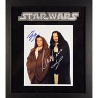Star Wars Signed Liam Neeson and Ewan McGregor 15-Inch x 17-Inch Framed Movie Photo