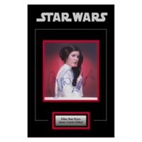 Star Wars Signed Carrie Fisher 16-Inch x 20-Inch Framed Movie Photo