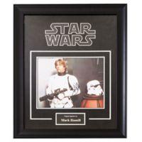 Star Wars Signed Mark Hamill as Luke Skywalker 6-Inch x 8-Inch Framed Movie Photo