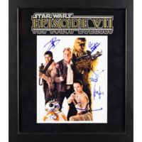 Star Wars: The Force Awakens 4-Actor Signed 15-Inch x 17-Inch Framed Movie Photo