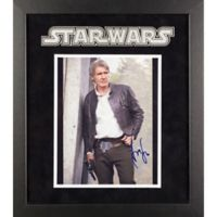 Star Wars: The Force Awakens Signed Harrison Ford 15-Inch x 17-Inch Framed Movie Photo