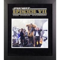 Star Wars: The Force Awakens 3-Actor Signed 15-Inch x 17-Inch Framed Movie Photo