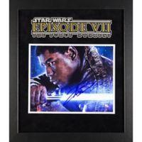 Star Wars: The Force Awakens Signed John Boyega 15-Inch x 17-Inch Framed Movie Photo