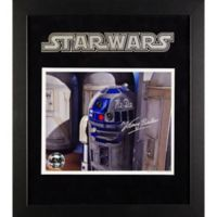 Star Wars Signed Kenny Baker as R2-D2 15-Inch x 17-Inch Framed Movie Photo