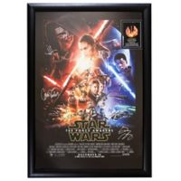 Star Wars: The Force Awakens Signed 11-Inch x 18-Inch Movie Poster