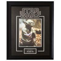 Star Wars Signed Frank Oz as Yoda 6-Inch x 8-Inch Framed Movie Photo