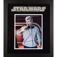 Star Wars Signed George Lucas 15-Inch x 17-Inch Framed Movie Photo